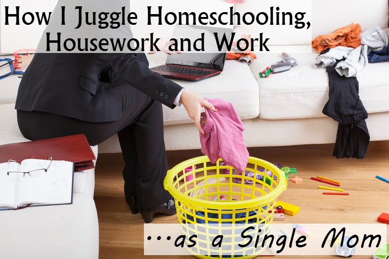 Juggling homeschool, housework and work as a single mom can be a challenge, but not one that can't be accomplished.