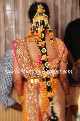 Tamilnadu Bridal Hairstyle : Sparkling fashion pula jada bridal hair style