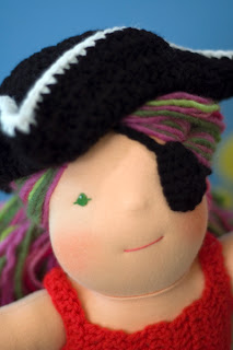 pirate costume doll tricorn hat eye patch