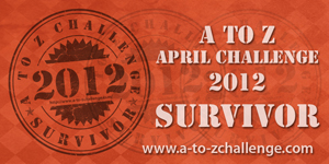 I survived the A to Z Challenge!