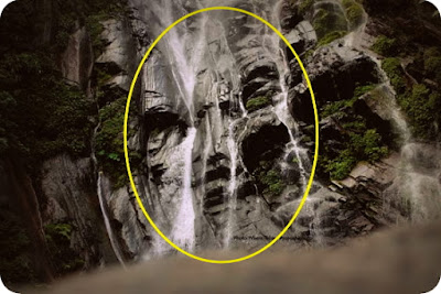 Sosok Wajah di Air Terjun Gunung Cycloop Diabadikan