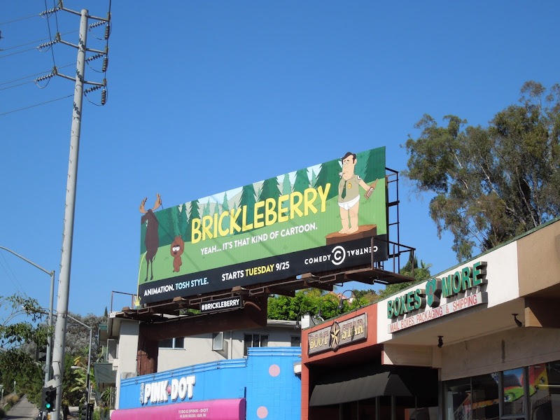 Brickleberry cartoon billboard Sunset Boulevard