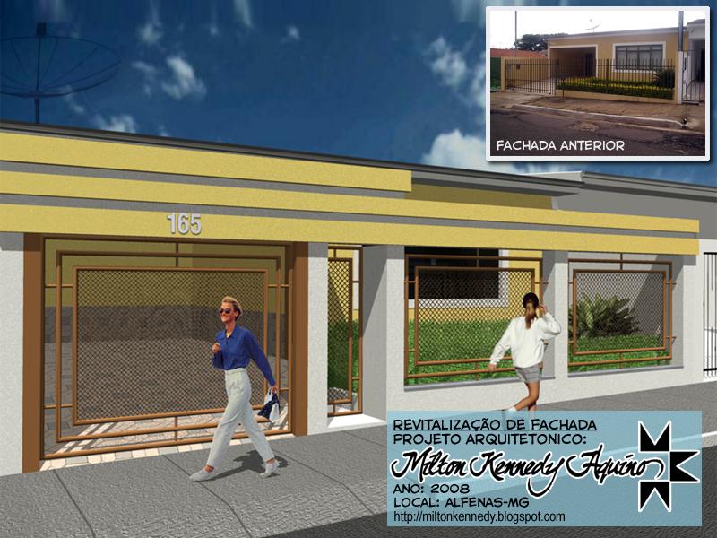 Milton kennedy revitaliza o de fachada residencial for Modernizar fachada casa