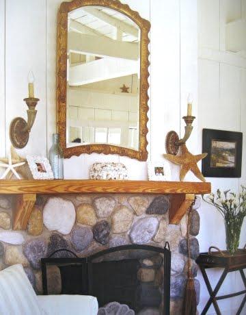 Cottage Decor Fireplace Mantel