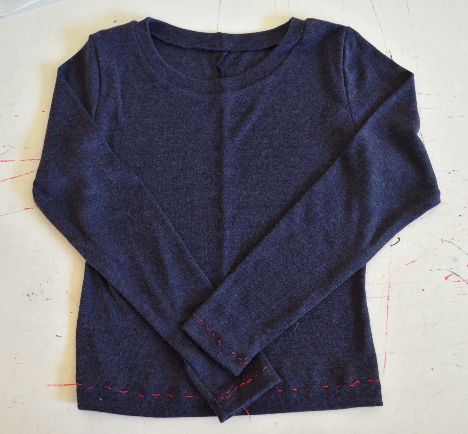 Dark blue jersey top
