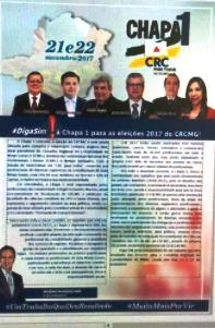 CAMPANHA CHAPA 1 CRC-CONSELHO REGIONAL DE CONTABILIDADE