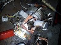 Silnik Babetta bez cylindra