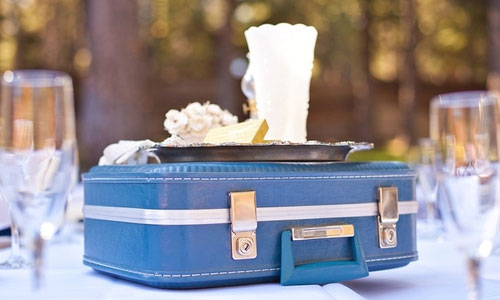 Suitcase Centerpiece