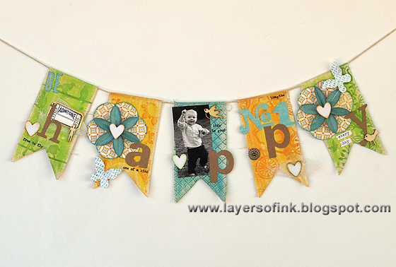 Be Happy Banner - Layers of ink