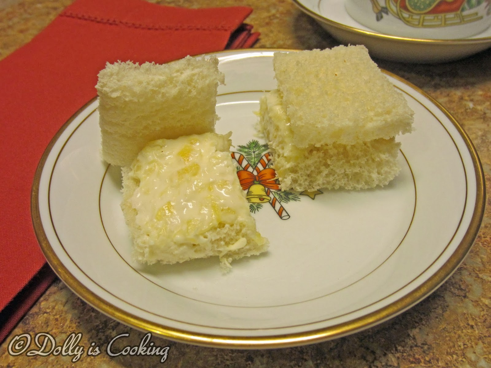 Dolly Is Cooking: Cream Cheese and Pineapple Finger Sandwiches