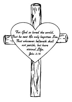 Cross Coloring Pages with John 3 16