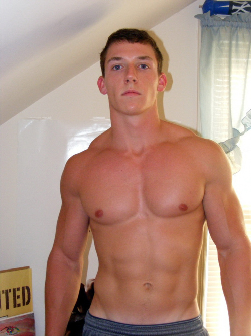 Gay college muscle