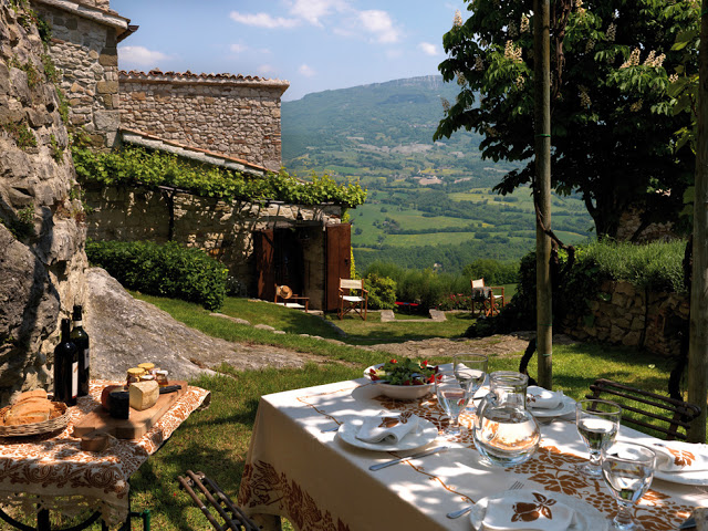 casa rural en italia  jardin