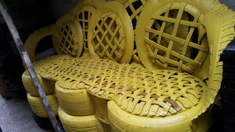 Para El Hogar Recicladas Top Reciclado De Palets Ideas Para Tu  # Muebles Con Neum?ticos