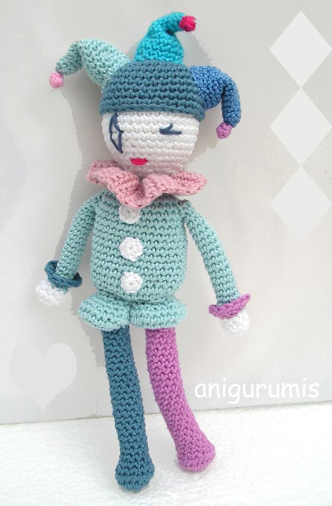 Amigurumi Monkey Patron Gratis : Patron amigurumi Arlequ?n