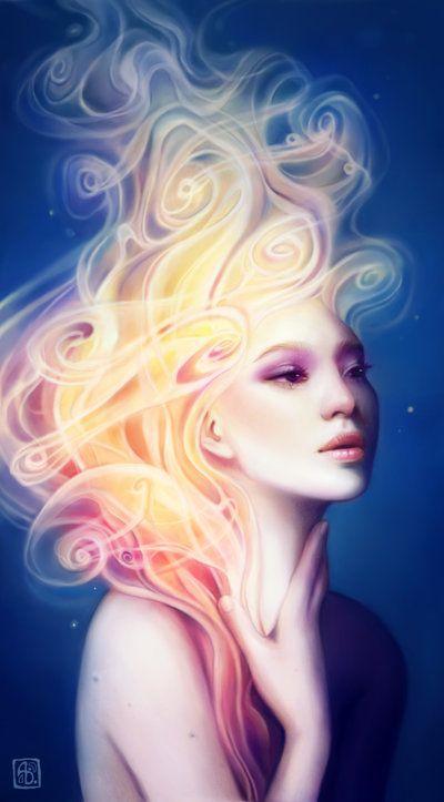 Anna Dittmann escume deviantart ilustrações belas singelas surreal mulheres Fumo