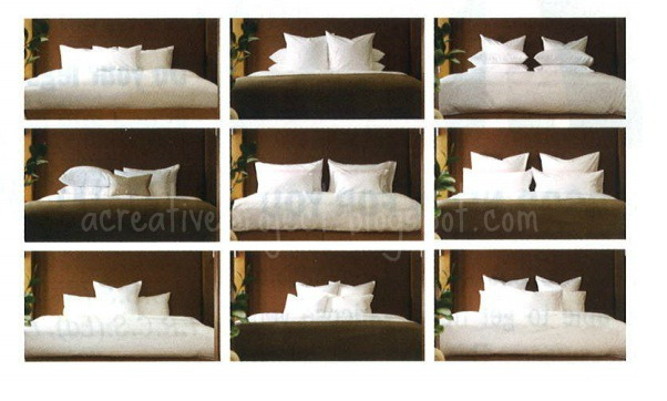 A Creative Project: How to arrange pillows on bed