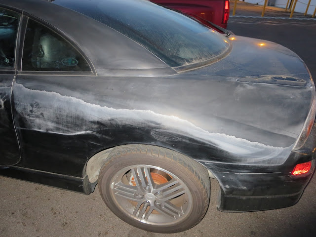 Extreme peeling on clear coat before car painting at Almost Everything Auto Body