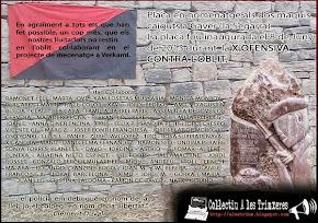 Mecenes placa homenatge a dos maquis  caiguts a La Segarra