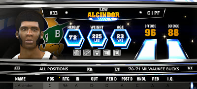 NBA 2K14 Lew Alcindor (Bucks)