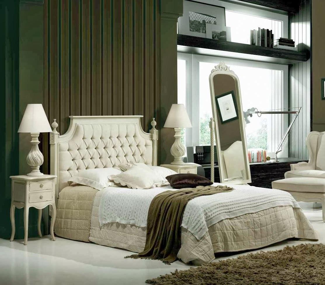 Muebles de dormitorio 4 dormitorios provenzales en color - Dormitorios en color blanco ...