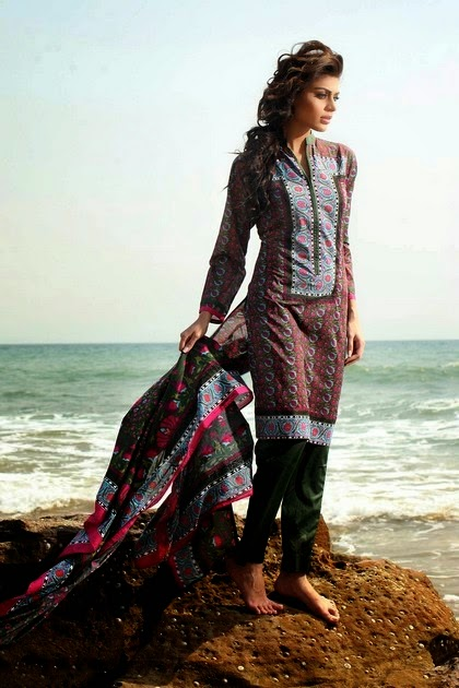 Khaadi Summer Lawn Dresses Unstitched Collection 2014