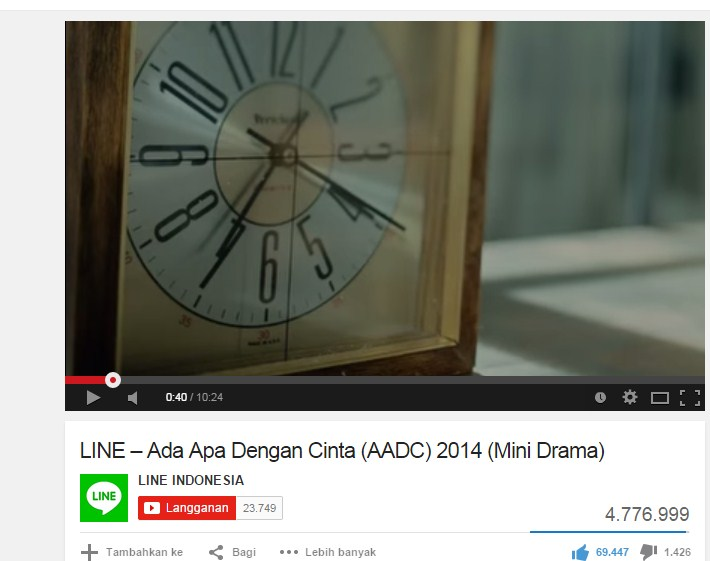 youtube,AADC,Mini Drama,Ada Apa dengan cinta,