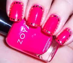 pink nail designs, pink nail design, pink and black nail designs, black and pink nail designs, pink nail art designs on pinterest