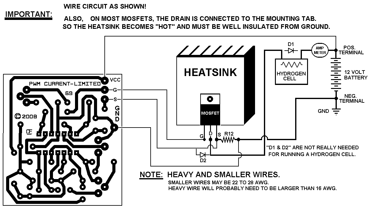 Hho Pwm Schematic Electrical Work Wiring Diagram Pulse Width Modulation Block Nte Electronics Circuit For Electrolysis Water Cell Damage The Engine 555