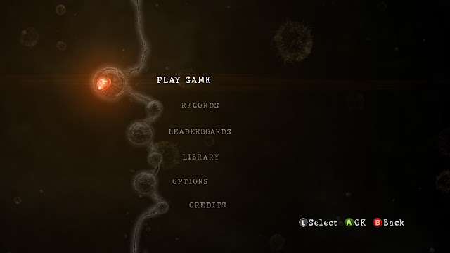 Resident Evil 5 menu screen
