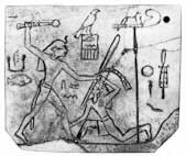 Imagen que representa al Faraón Den