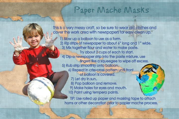 how to make a paper mache mask using a balloon