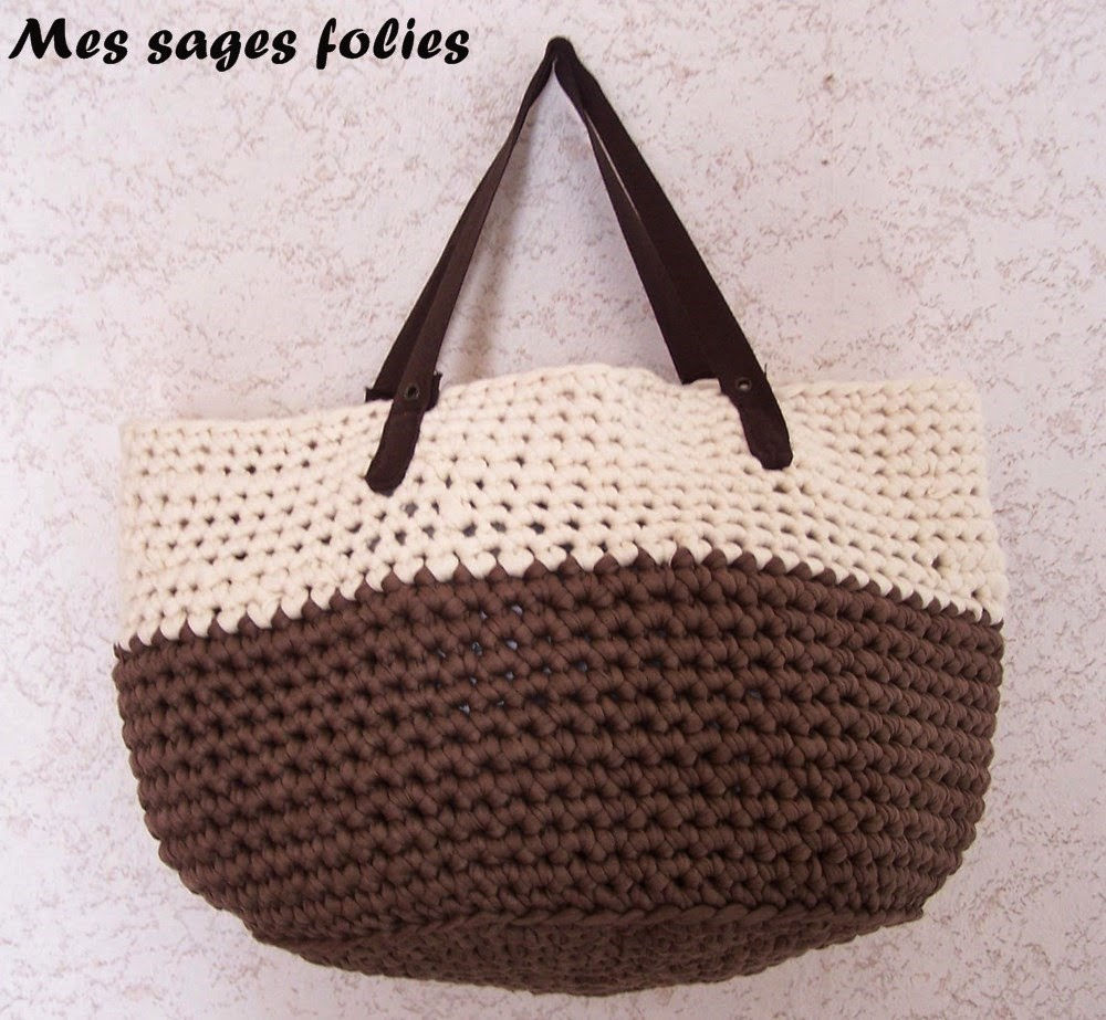 sac crochet fait main/handmade crocheted bag