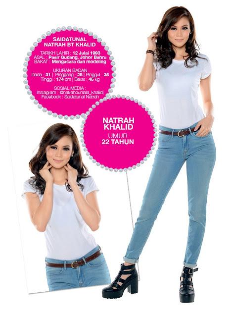 Profil Peserta Dewi Remaja 2014/2015 Natrah Khalid