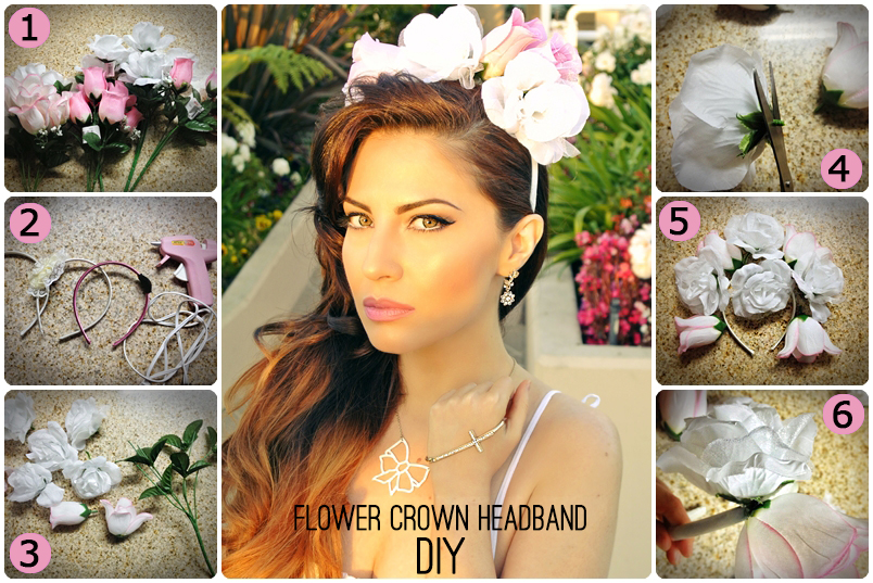 Lana Del Rey Style, Lana Del Rey Makeup, Lana Del Rey Tutorial, Lana Del Rey Flower Crown, Boho Fashion, Flower Crown DIY, Floral Crown DIY, Flower Headband, Dollar Store DIY, How to Look Like Lana Del Rey
