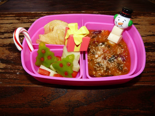 Minestrone winter bento lunch