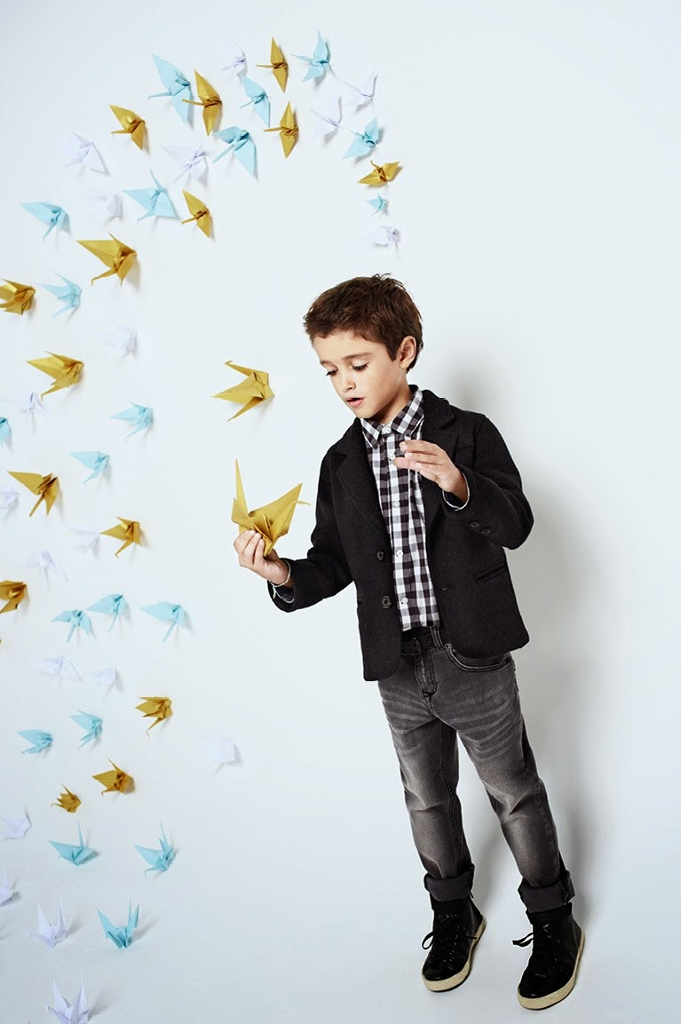 Mango Kids 'Christmas Origami' Lookbook 2014