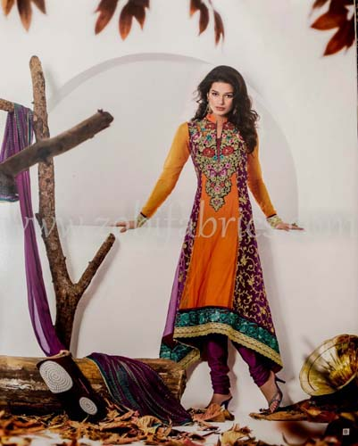 Zobi Fabrics Latest Party Wear Outfits Collection 2013 For girls Women 6 - Zobi Fabrics Latest Party Wear Outfits