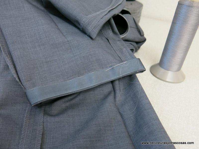 como coser una bastilla estrecha