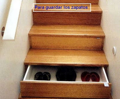 escalera guarda zapatos
