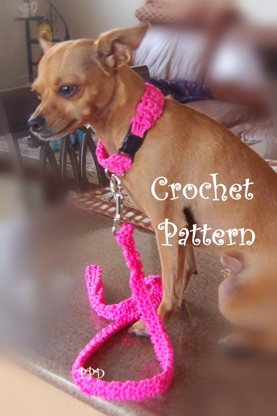 Free Crochet Pattern For Dog Harness : Posh Pooch Designs Dog Clothes: Cord Dog Collar and Leash ...
