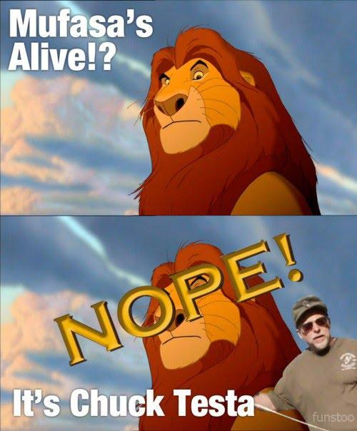 Lion King Mufasa - Nope - Chuck Testa