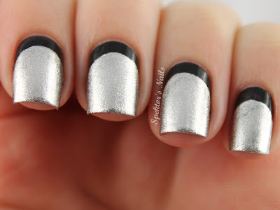 New Year's Eve Black & Silver Ruffian Nails