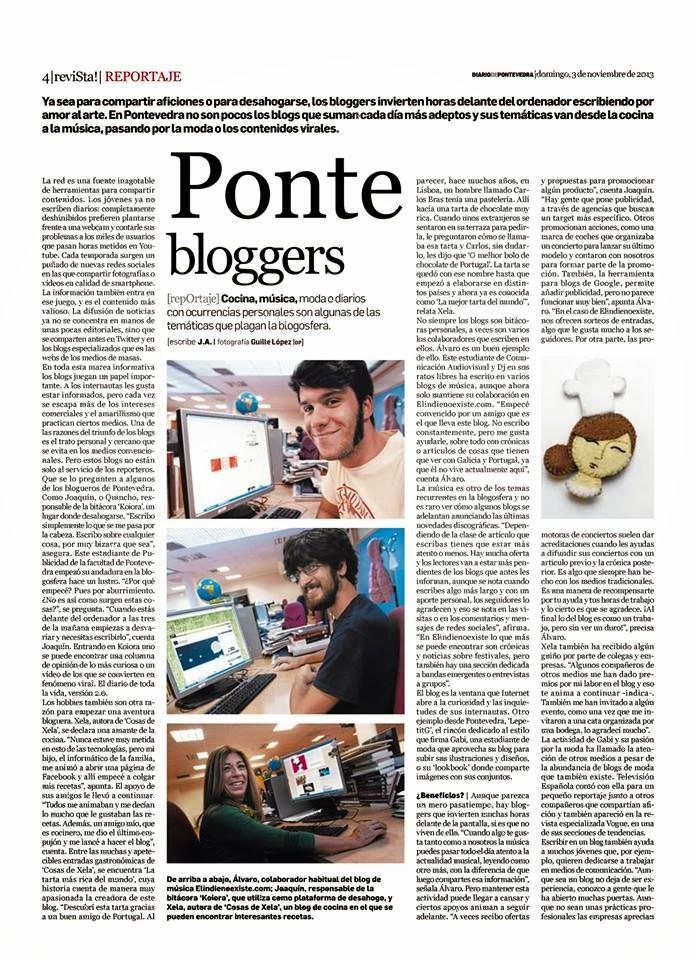 ENTREVISTA EN EL DIARIO DE PONTEVEDRA