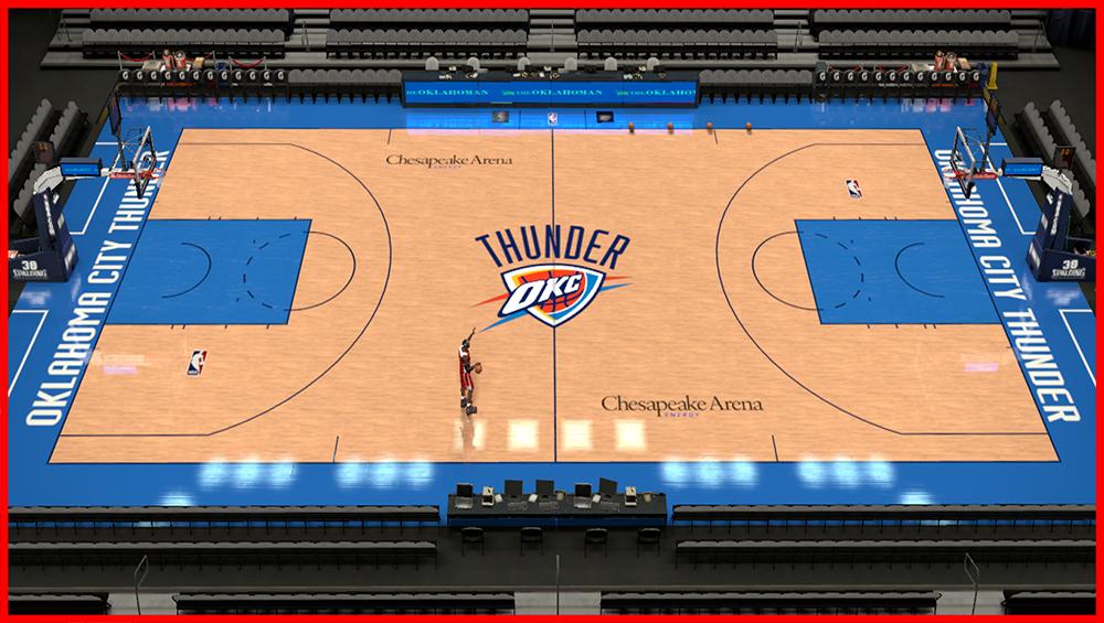 NBA 2K14 Chesapeake Energy Arena Court Patch - NBA2K.ORG