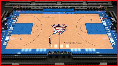NBA 2K14 Chesapeake Energy Arena Court Patch