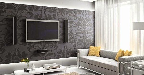 papier peint sejour tendance. Black Bedroom Furniture Sets. Home Design Ideas
