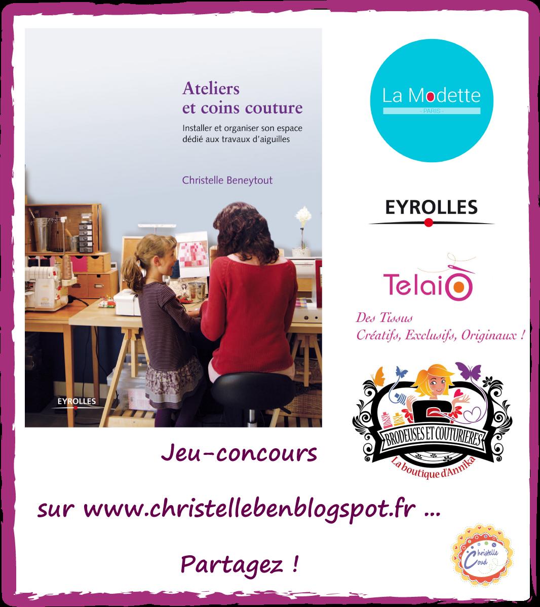 giveaway - livre ateliers et coins couture
