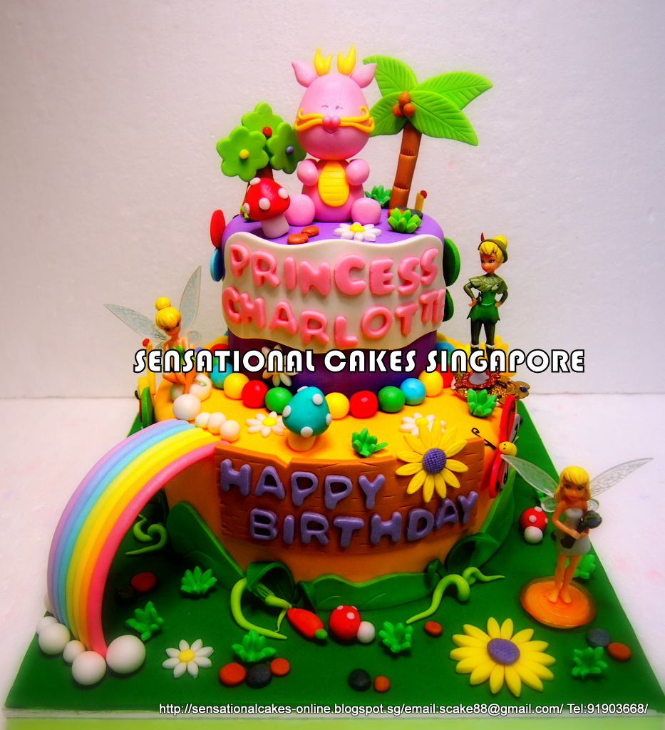 The Sensational Cakes BABY DRAGON 1ST BIRTHDAY CAKE SINGAPORE