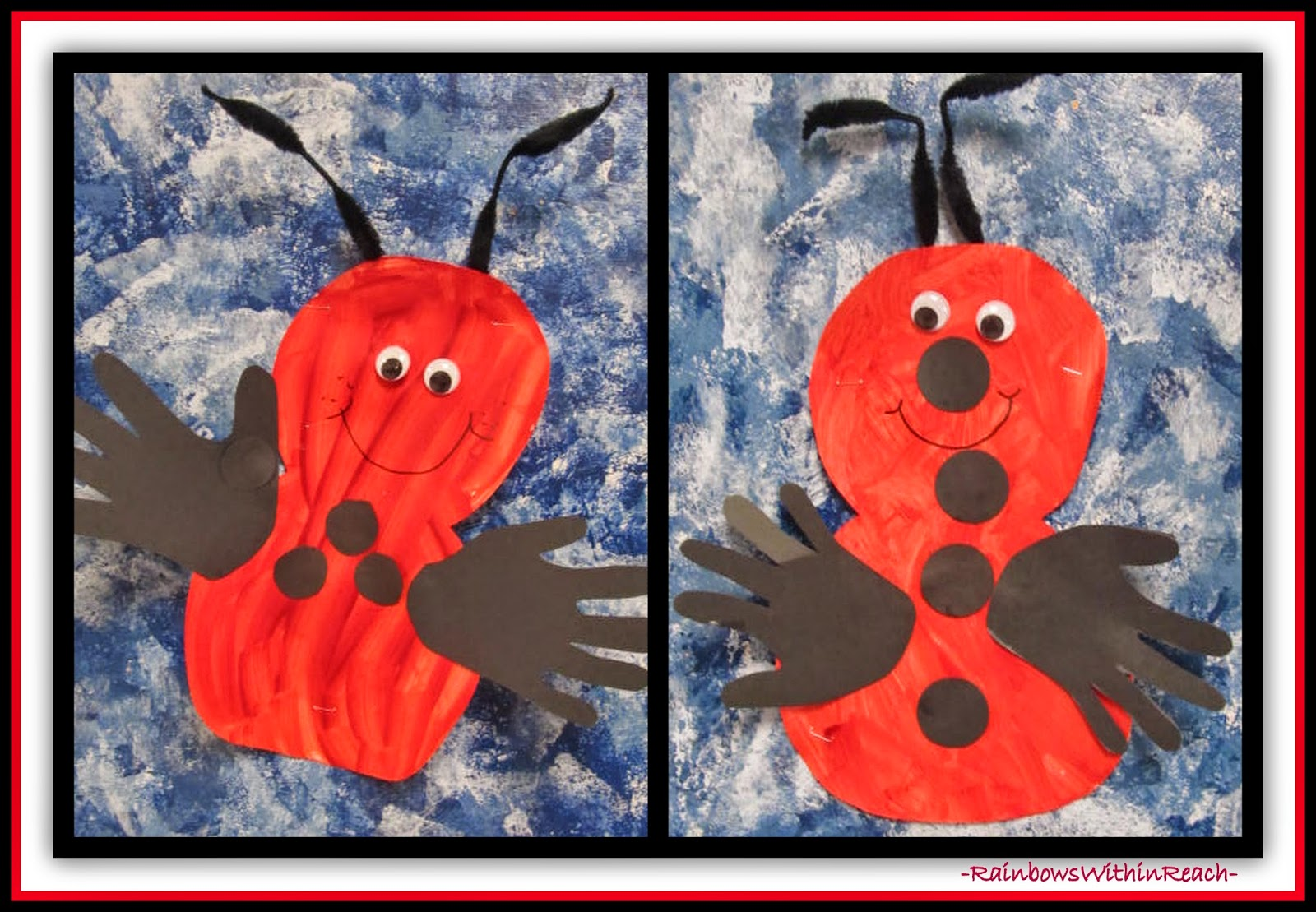 Lady Bug with Traced Hand Detail at RainbowsWithinReach